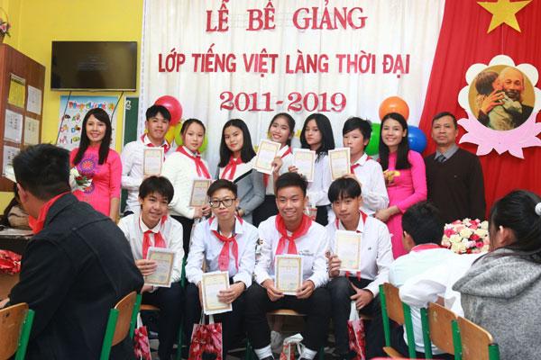 Bế giảng lớp tiếng Việt khóa 2011-2019 tại Làng Thời Đại, Ucraina