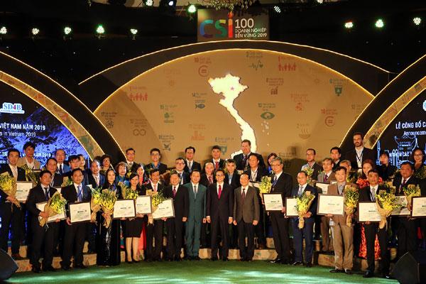 Tôn vinh 100 doanh nghiệp bền vững năm 2019
