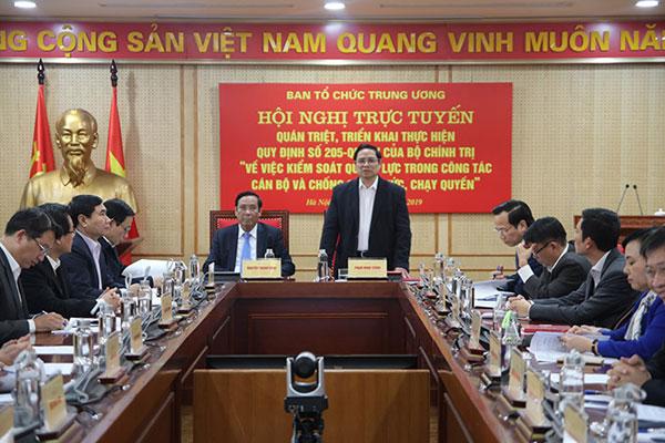Triển khai quy định của Bộ Chính trị về kiểm soát quyền lực, chống chạy chức chạy quyền