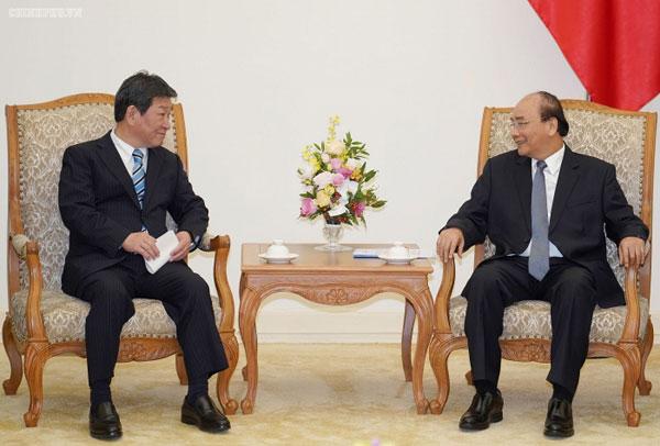 Thủ tướng Chính phủ Nguyễn Xuân Phúc tiếp Bộ trưởng Ngoại giao Nhật Bản