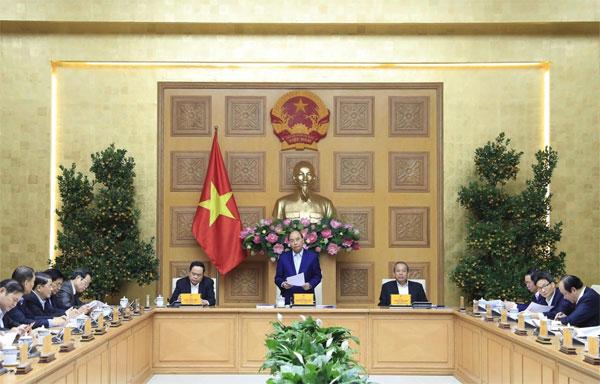Thủ tướng chủ trì họp Tiểu ban Kinh tế-Xã hội của Đại hội Đảng