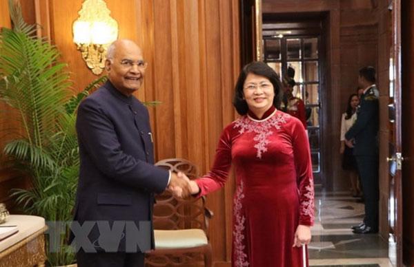 Phó Chủ tịch nước Đặng Thị Ngọc Thịnh hội kiến Tổng thống Ấn Độ