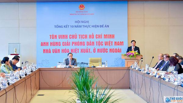 Hội nghị tổng kết 10 năm thực hiện các hoạt động tôn vinh  Chủ tịch Hồ Chí Minh ở nước ngoài