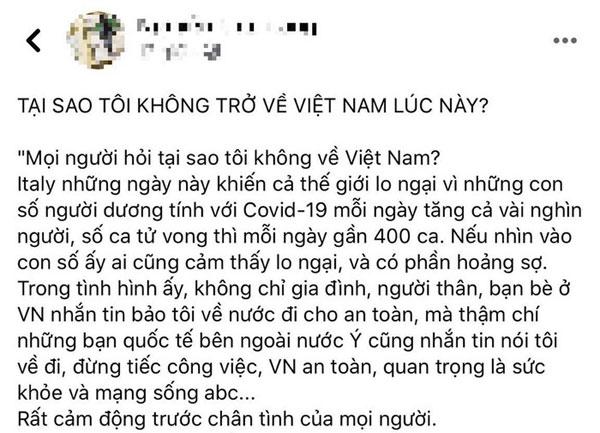 Người Việt ở lại nước Ý: