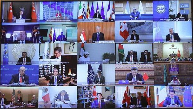 Hội nghị thượng đỉnh trực tuyến G20 bàn cách ứng phó COVID-19
