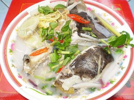 Món cá rô nấu hèm