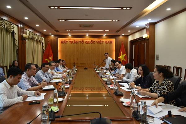 Ủy ban Nhà nước về NVNONN  và Mặt trận Tổ quốc Việt Nam tăng cường phối hợp công tác