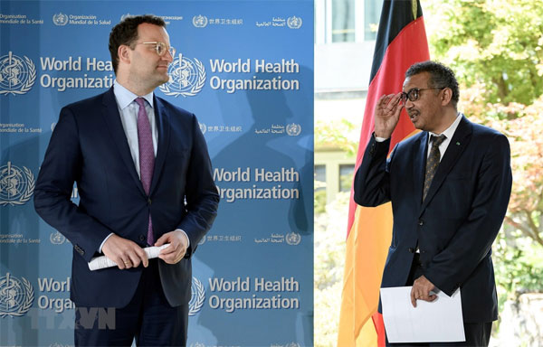 Chính phủ Đức tuyên bố đóng góp 500 triệu euro cho WHO