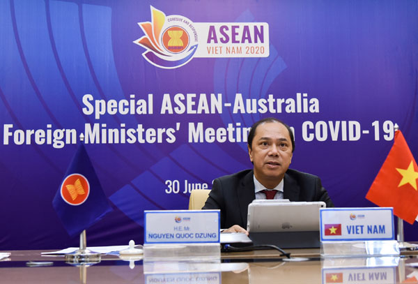 Hội nghị Bộ trưởng ASEAN-Úc Đặc biệt về COVID-19 theo hình thức trực tuyến
