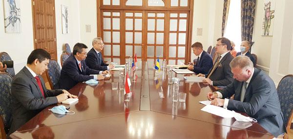 Ngoại trưởng Ucraina tiếp Đại sứ các nước ASEAN tại Ucraina