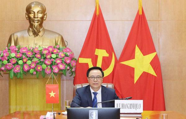 Việt Nam tham dự Hội nghị chính đảng quốc tế về hợp tác an ninh thời Covid-19
