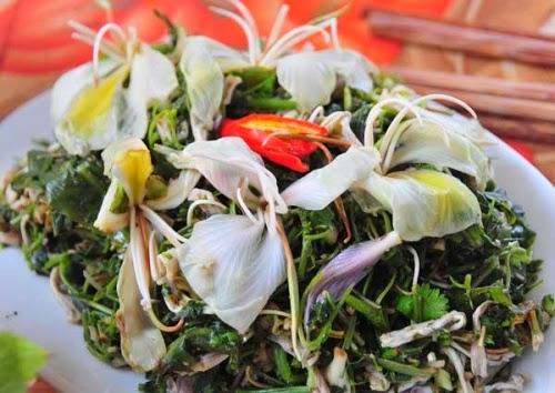 Nộm hoa ban - ẩm thực đặc sắc vùng Tây Bắc