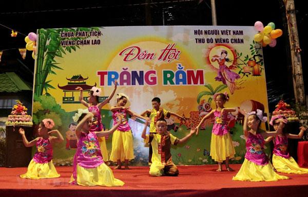 Tết Trung thu ý nghĩa của con em Việt kiều ở thủ đô Vientianne của Lào