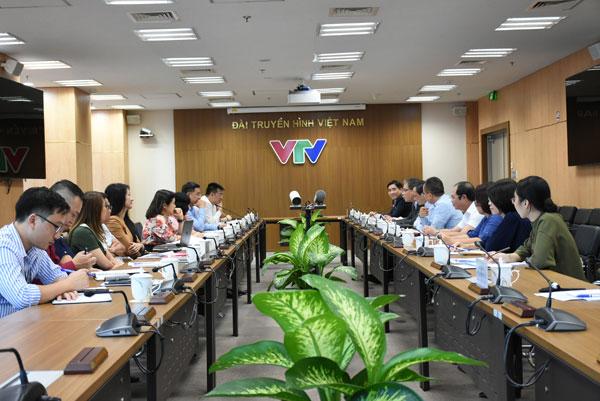 Đoàn công tác Bộ ngoại giao làm việc với Đài truyền hình Việt Nam
