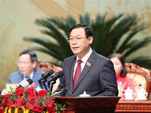 Ông Vương Đình Huệ tái đắc cử Bí thư Hà Nội với số phiếu tuyệt đối