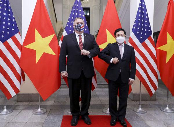 Phó Thủ tướng Phạm Bình Minh đón, hội đàm với Ngoại trưởng Mỹ