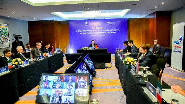 Việt Nam chủ trì họp nhóm nước Ủy viên không thường trực Hội đồng Bảo an Liên hợp quốc