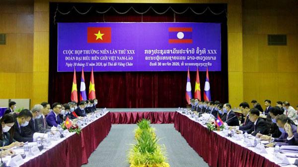 Đoàn đại biểu biên giới Việt Nam và Lào tổ chức họp thường niên lần thứ 30