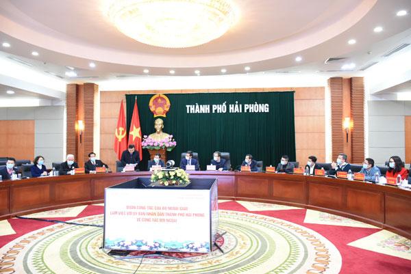 Đoàn công tác Bộ Ngoại giao làm việc với thành phố Hải Phòng