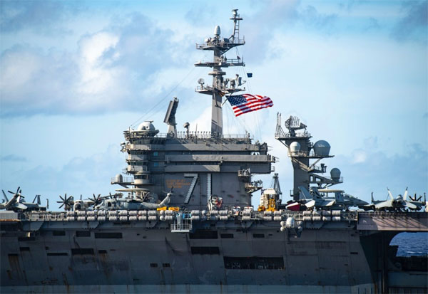 Lần đầu tiên dưới thời Tổng thống Biden, tàu sân bay Mỹ tiến vào Biển Đông