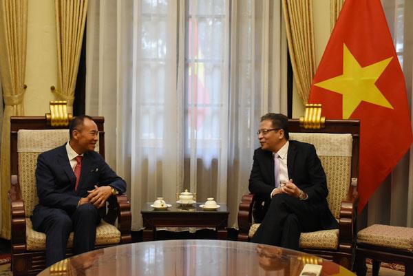 Thứ trưởng Ngoại giao Đặng Minh Khôi tiếp Chủ tịch Hội đồng Quản trị Tập đoàn Tân Việt Group