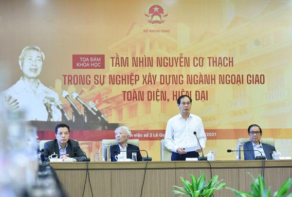 """Tọa đàm khoa học """"Tầm nhìn Nguyễn Cơ Thạch trong sự nghiệp xây dựng ngành ngoại giao toàn diện, hiện đại"""""""