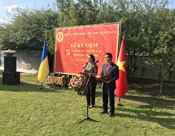 Lễ kỷ niệm 5 năm thành lập Hội Cựu chiến binh Việt Nam tại Ucraina