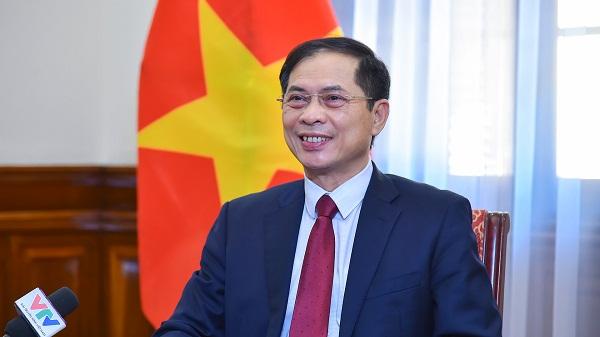 Bộ trưởng Ngoại giao Bùi Thanh Sơn trả lời báo chí về Kết luận của Bộ Chính trị về công tác người Việt Nam ở nước ngoài trong tình hình mới