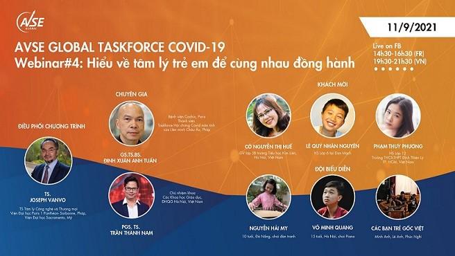 AVSE Global tổ chức hội thảo trực tuyến đồng hành cùng trẻ em trong mùa dịch