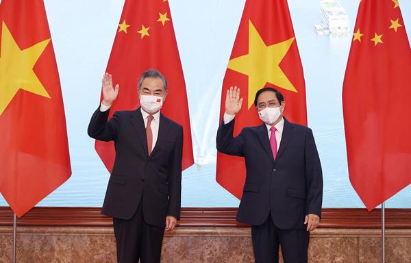 Thủ tướng Phạm Minh Chính tiếp Ngoại trưởng Trung Quốc Vương Nghị