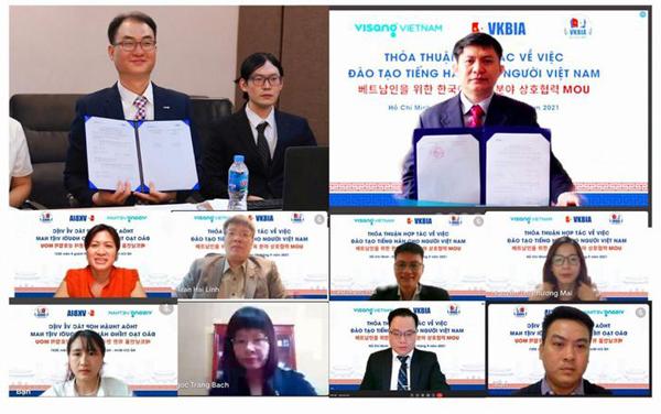 VKBIA – VISANG liên kết đào tạo tiếng Hàn cho người Việt Nam