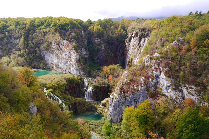 Mùa thu đẹp như tranh ở hồ Plitvice