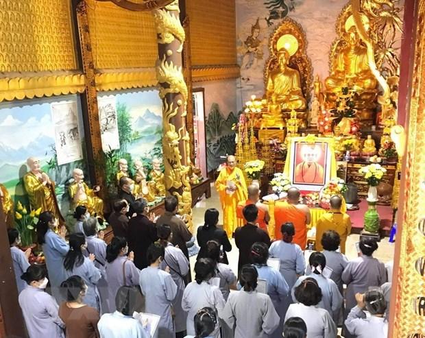 Chùa Phật tích tại Lào truy điệu Đại lão hòa thượng Thích Phổ Tuệ